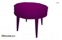 Round Ottoman Coffee Table Silhouette