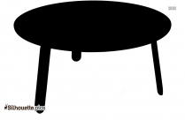 Round Table Silhouette Free Vector Illustration