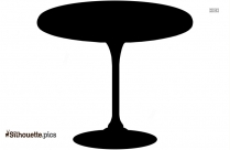 Dining Table Silhouette Vector And Graphics