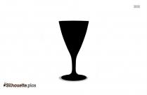 Classic Martini Cocktail Glass Silhouette