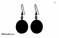 Black And White Royal Earring Silhouette