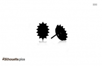 Royal Earring Silhouette Clipart