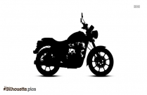 Royal Enfield Silhouette Free Vector Art