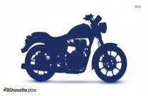 Royal Enfield Motor Bike Silhouette Clipart