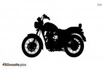 Royal Enfield Motorbike Silhouette Art