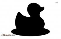 Rubber Duck Clip Art Vector Silhouette