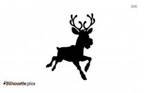 Christmas Reindeer Cartoon Silhouette Vector