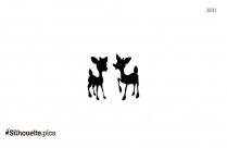 Rudolph Reindeer Vector Silhouette