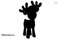 Reindeer Cartoon Vector Silhouette