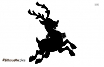 Cute Christmas Reindeer Silhouette Image And Vector