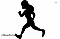Guy Running Silhouette Drawing
