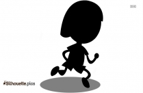 Woman Running Vector Silhouette