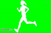 Running Girl Silhouette Vector And Graphics