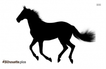 Black Horse Galloping Vector Silhouette