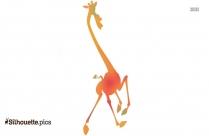 Running Madagascar Giraffe Clipart Silhouette