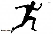 Black Running Man Silhouette Image
