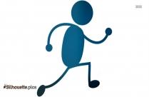 Running Stick Man Clip Art Silhouette