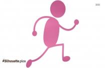 Running Man Cartoon Silhouette