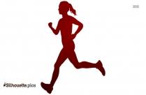 Run Happy Silhouette Art