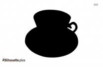 Coffee Cup Silhouette Clipart Vector