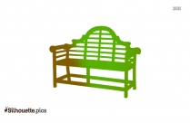 Rustic Benches Silhouette Clip Art