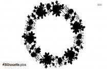 Black Flower Background Silhouette Image