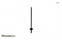Rusty Sword Silhouette Icon