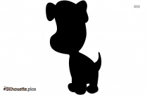 Sad Dog Cartoon Silhouette Image And Vector