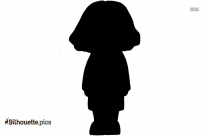 School Girl Emoji Silhouette