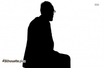 Depressed Man Sitting Silhouette Image And Vector