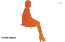 Woman Sitting In Office Chair Silhouette