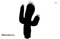 Simple Cactus Man Silhouette