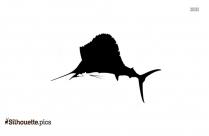 Cartoon Sharks Silhouette Free Vector Art