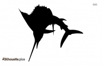 Black And White Fish Drawing Silhouette Vector