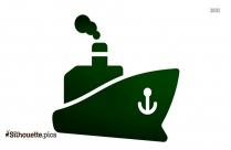 Ship Cartoon Silhouette