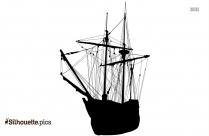 Sailboat Cartoon Silhouette