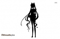 Sailor Moon Silhouette Drawing Sketch