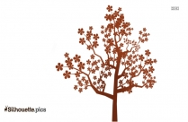Tree Drawing Silhouette, Tree Clipart Vector Background