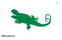Salamander Silhouette Clipart Image
