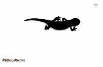 Lizard Silhouette Free Vector Art