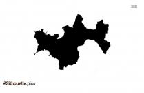Salem District Map Silhouette Clipart