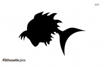 Black Sea Fish Silhouette Image