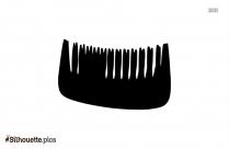Salon Comb Silhouette Clipart