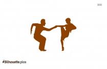 Beautiful Salsa Dancers Silhouette Vector