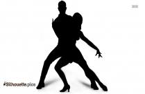 ballerina pose silhouette outline