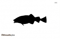 Sea Bass Silhouette Clipart