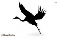 Sandhill Crane Flying Silhouette