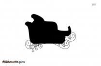 Santa Sled Silhouette Clipart