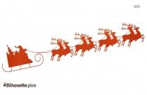 Cartoon Christmas Reindeer Silhouette