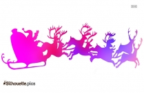 Santa Sleigh Silhouette Vector And Graphics
